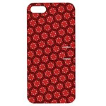 Red Passion Floral Pattern Apple iPhone 5 Hardshell Case with Stand