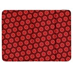 Red Passion Floral Pattern Samsung Galaxy Tab 7  P1000 Flip Case