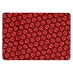 Red Passion Floral Pattern Samsung Galaxy Tab 8.9  P7300 Flip Case