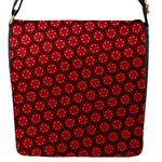 Red Passion Floral Pattern Flap Messenger Bag (S)