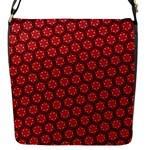 Red Passion Floral Pattern Flap Messenger Bag (S)