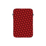 Red Passion Floral Pattern Apple iPad Mini Protective Soft Cases
