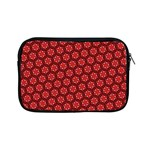 Red Passion Floral Pattern Apple iPad Mini Zipper Cases