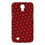 Red Passion Floral Pattern Samsung Galaxy Mega 6.3  I9200 Hardshell Case