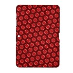 Red Passion Floral Pattern Samsung Galaxy Tab 2 (10.1 ) P5100 Hardshell Case