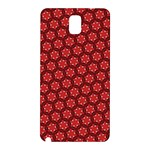 Red Passion Floral Pattern Samsung Galaxy Note 3 N9005 Hardshell Back Case