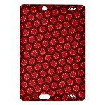 Red Passion Floral Pattern Amazon Kindle Fire HD (2013) Hardshell Case