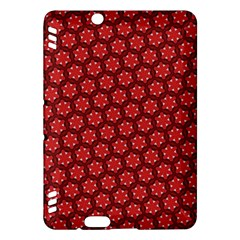 Red Passion Floral Pattern Kindle Fire Hdx Hardshell Case by DanaeStudio