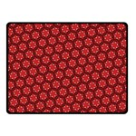 Red Passion Floral Pattern Double Sided Fleece Blanket (Small)