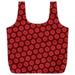 Red Passion Floral Pattern Full Print Recycle Bags (L)