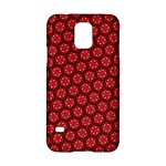 Red Passion Floral Pattern Samsung Galaxy S5 Hardshell Case