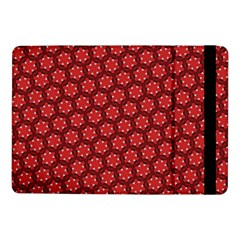 Red Passion Floral Pattern Samsung Galaxy Tab Pro 10 1  Flip Case by DanaeStudio