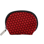 Red Passion Floral Pattern Accessory Pouches (Small)