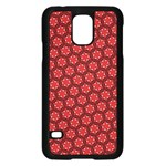 Red Passion Floral Pattern Samsung Galaxy S5 Case (Black)