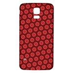 Red Passion Floral Pattern Samsung Galaxy S5 Back Case (White)