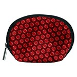 Red Passion Floral Pattern Accessory Pouches (Medium)