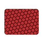 Red Passion Floral Pattern Double Sided Flano Blanket (Mini)