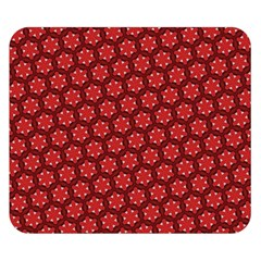 Red Passion Floral Pattern Double Sided Flano Blanket (small)  by DanaeStudio