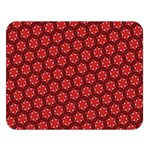 Red Passion Floral Pattern Double Sided Flano Blanket (Large)