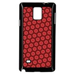 Red Passion Floral Pattern Samsung Galaxy Note 4 Case (Black)