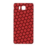 Red Passion Floral Pattern Samsung Galaxy Alpha Hardshell Back Case