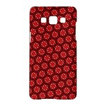 Red Passion Floral Pattern Samsung Galaxy A5 Hardshell Case