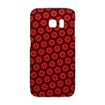 Red Passion Floral Pattern Galaxy S6 Edge