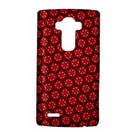 Red Passion Floral Pattern LG G4 Hardshell Case