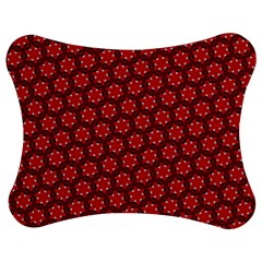 Red Passion Floral Pattern Jigsaw Puzzle Photo Stand (bow) by DanaeStudio