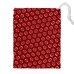 Red Passion Floral Pattern Drawstring Pouches (XXL)