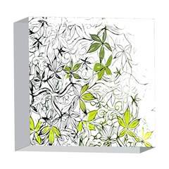 Floral Pattern Background  5  x 5  Acrylic Photo Blocks by Zeze