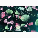 Modern Green And Pink Leaves Collage Prints