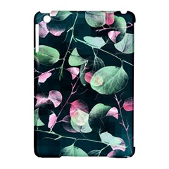 Modern Green And Pink Leaves Apple Ipad Mini Hardshell Case (compatible With Smart Cover) by DanaeStudio