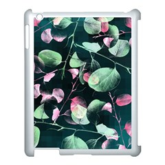 Modern Green And Pink Leaves Apple Ipad 3/4 Case (white) by DanaeStudio