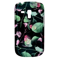 Modern Green And Pink Leaves Samsung Galaxy S3 Mini I8190 Hardshell Case by DanaeStudio