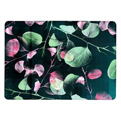 Modern Green And Pink Leaves Samsung Galaxy Tab 10 1  P7500 Flip Case by DanaeStudio