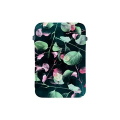 Modern Green And Pink Leaves Apple Ipad Mini Protective Soft Cases by DanaeStudio