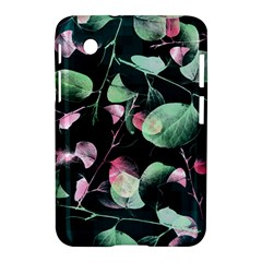 Modern Green And Pink Leaves Samsung Galaxy Tab 2 (7 ) P3100 Hardshell Case  by DanaeStudio