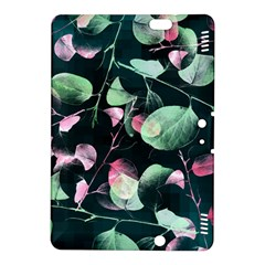 Modern Green And Pink Leaves Kindle Fire Hdx 8 9  Hardshell Case by DanaeStudio