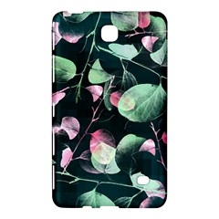 Modern Green And Pink Leaves Samsung Galaxy Tab 4 (8 ) Hardshell Case  by DanaeStudio