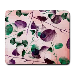Spiral Eucalyptus Leaves Large Mousepads by DanaeStudio