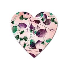 Spiral Eucalyptus Leaves Heart Magnet by DanaeStudio