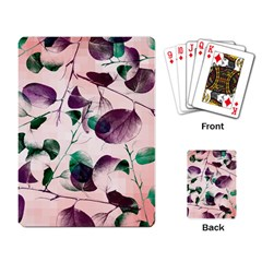 Spiral Eucalyptus Leaves Playing Card by DanaeStudio