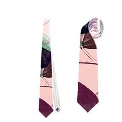 Spiral Eucalyptus Leaves Neckties (one Side)  by DanaeStudio