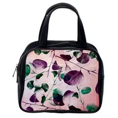 Spiral Eucalyptus Leaves Classic Handbags (one Side) by DanaeStudio