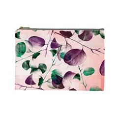 Spiral Eucalyptus Leaves Cosmetic Bag (large)  by DanaeStudio