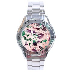 Spiral Eucalyptus Leaves Stainless Steel Analogue Watch by DanaeStudio