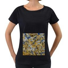 Antique Anciently Gold Blue Vintage Design Women s Loose Fit T Shirt (black) by designworld65