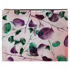 Spiral Eucalyptus Leaves Cosmetic Bag (xxxl)  by DanaeStudio