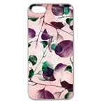Spiral Eucalyptus Leaves Apple Seamless iPhone 5 Case (Clear)